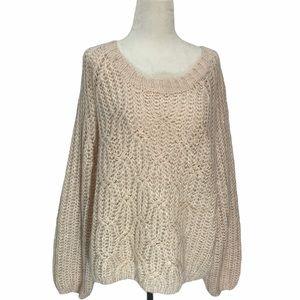 NWOT DH3 Super Soft Blush Sweater Size XL